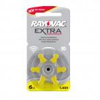 Batteria Rayovac DA10 per apparecchi acustici, Blister 6 pezzi