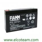Batteria ermetica al piombo 6V 7,2 Ah FIAMM