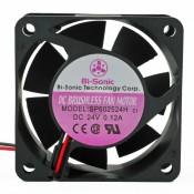 Bi-Sonic SP602524H-03 Ventilatore 60X60x25 24VDC su Bronzina