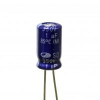 Condensatore Elettrolitico 1uF 350V 85°C Samwha 6,5x12 mm