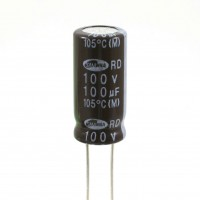 Condensatore Elettrolitico 100uF 100 Volt 105°C Samwha 10x20