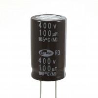 Condensatore Elettrolitico 100uF 400 Volt 105°C Samwha 18x32mm
