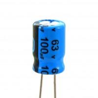 Condensatore Elettrolitico 100uF 63 Volt 85°C Jianghai 8x11,5 Nastrato