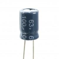 Condensatore Elettrolitico 100uF 63 Volt 105°C Jianghai 8x11,5 Nastrato
