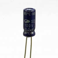 Condensatore Elettrolitico 2,2uF 100 Volt 85°C Samwha 5x11 Nastrato