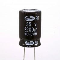 Condensatore Elettrolitico 2200uF 35 Volt 105°C Samwha 16x25 mm