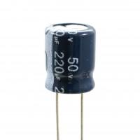 Condensatore Elettrolitico 220uF 50 Volt 105°C Jianghai 10x12,5 Nastrato