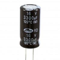 Condensatore Elettrolitico 3300uF 16 Volt 105°C Samwha 13x25