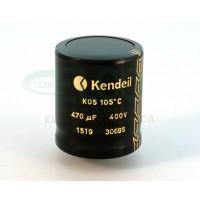 Condensatore elettrolitico Kendeil 470µF 400VDC