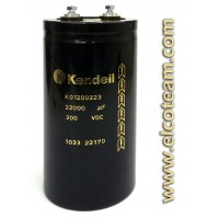 Condensatore elettrolitico Kendeil 22000µF 200VDC