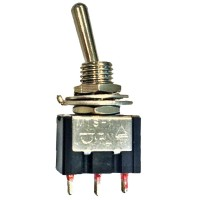Deviatore a Levetta 10A 250V SPST tipo ON-ON cod. 04/06594-00