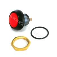 Pulsante stagno IP67 Normalmente Aperto colore rosso