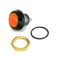 Pulsante stagno IP67 Normalmente Aperto colore arancio