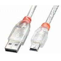 Cavo USB 2.0 Tipo A - Mini-B Trasparente 2 metri