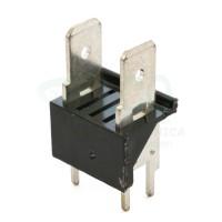 Stelvio CQS/C2/6.3 Connettore a Faston 2 poli da PCB paso 10,16 mm