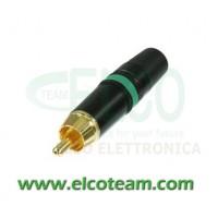 Spina RCA Neutrik NYS373 Verde