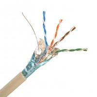 MTK33 PVC Cavo di Rete Schermato F/UTP Cat.5e Conduttori Rigidi in Rame AWG 24