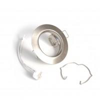Ghiera portalampada rotonda finitura spazzolata per lampade MR16
