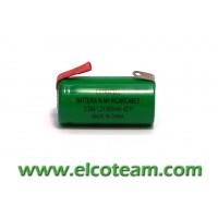Batteria 2/3 AA 600mAh Ni-Mh lamella a saldare