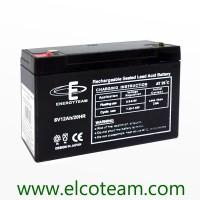 Batteria ermetica al piombo 6V 12Ah