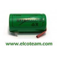 Batteria mezza torcia C 4Ah Ni-Cd lamelle