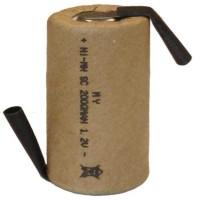 Batteria sub-mezza torcia SC 2.0Ah Ni-Cd