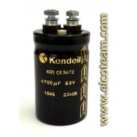 Condensatore elettrolitico Kendeil 4700µF 63VDC