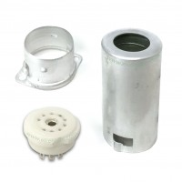 Zoccolo Noval con Schermo in Alluminio per Valvole ECC82 e Compatibili