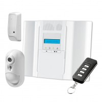 Kit di allarme wireless a 64 zone con centrale DSC WP8030, combinatore GSM e tecnologia PowerG