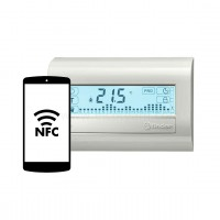 Cronotermostato Touchscreen Finder Bianco Perla