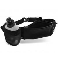 Marsupio sportivo porta borraccia con due tasche e borraccia 170ml