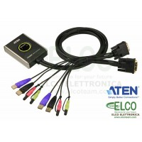 Aten CS682 Switch KVM USB DVI a 2 porte con audio