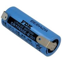 Batteria al Litio 3V formato CR17450 4/5A,CR8L con lamelle da saldatura