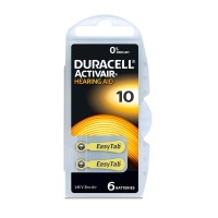 Pila Duracell DA10 per apparecchi acustici, Blister 6 pezzi