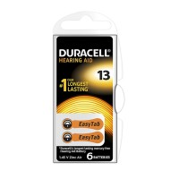 Batteria Duracell DA13 per apparecchi acustici, Blister 6 pezzi