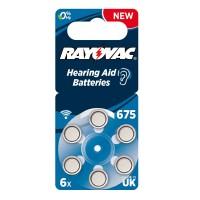 Batteria Rayovac DA675 per apparecchi acustici, Blister 6 pezzi