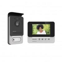 """Philips WelcomEye Compact Kit Videocitofono 2 Fili con Monitor Interno 4,3"""" e Pulsantiera Esterna"""