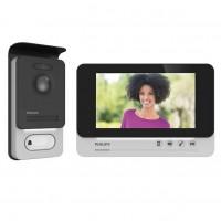 """Philips WelcomEye Comfort Kit Videocitofono 2 Fili con Monitor Interno 7"""" e Pulsantiera Esterna"""