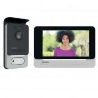 Philips WelcomEye Connect Kit Videocitofono 2 Fili con Monitor Interno Wi-Fi e Pulsantiera Esterna con Lettore RFid