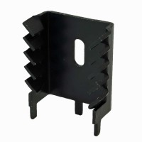 Tecnoal ST-TE28 Dissipatore per TO-220 Anodizzato Nero