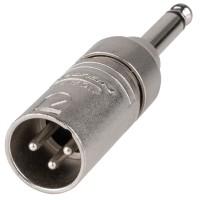 Neutrik NA2MP Adattatore Spina XLR 3 poli - Spina Jack 6,3mm Mono