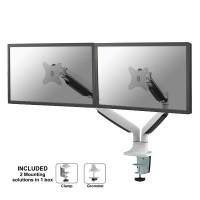 Supporto da scrivania per doppio monitor NewStar NM-D750DWHITE