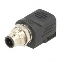 Adattatore Presa RJ45 - Spina M12 4 Pin Ethernet Amphenol RJS-12D04FM-LS8001