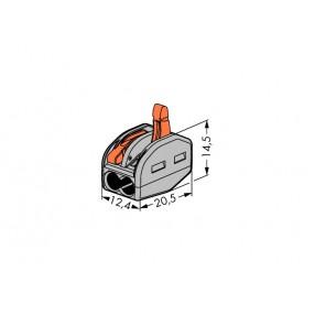 Wago 222-412 Morsetto di Giunzione per 2 conduttori