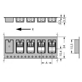Wago Serie 2060 - Dimensioni Reel