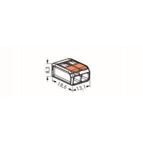 Wago 221-412 Morsetto di Giunzione per 2 conduttori