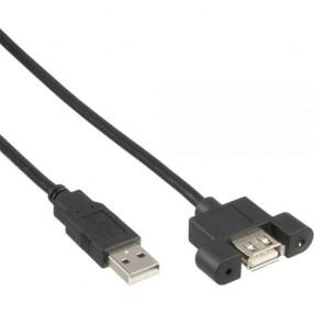 InLine 33440E Cavo Prolunga USB 2.0 Tipo da Pannello 0,6 metri