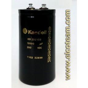 Condensatore elettrolitico Kendeil 10.000µF 200VDC
