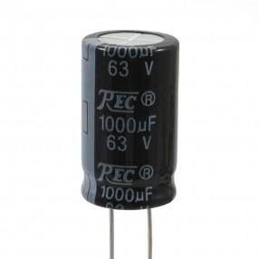Condensatore Elettrolitico 1000uF 63 Volt 105°C REC 16x26