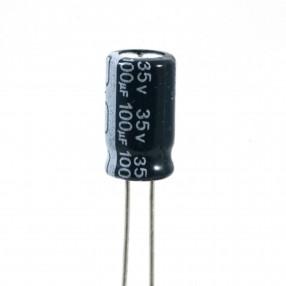 Condensatore Elettrolitico 100uF 35 Volt 105°C Jianghai 6,3x11,5